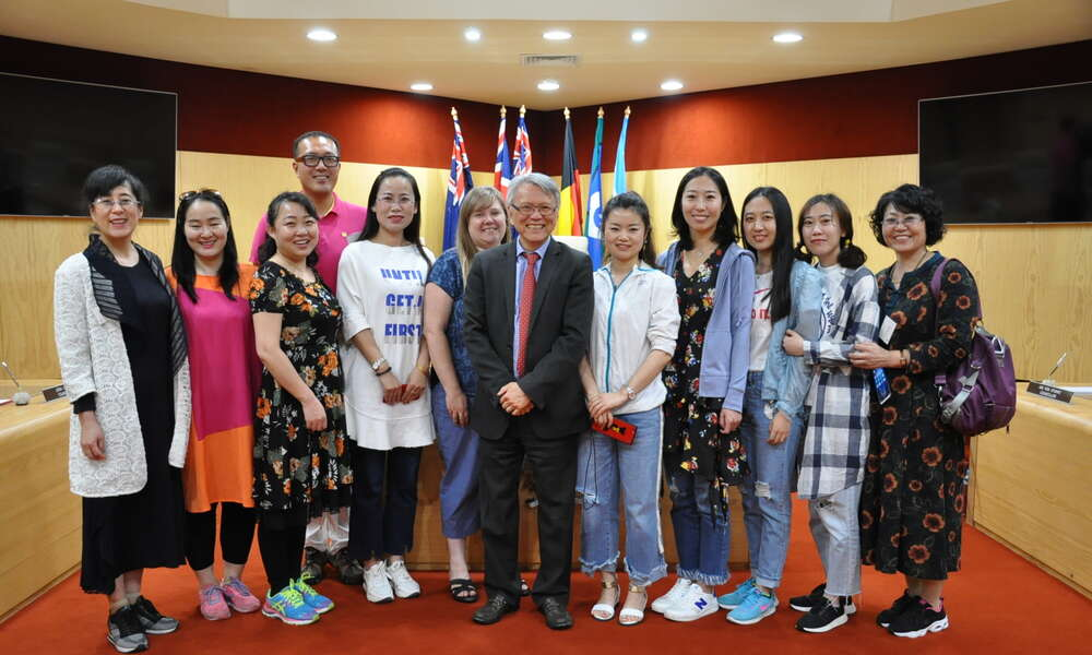A delegation of 10 English teachers from Baotou, Inner Mongolia, China are in Mount Gambier this week on a cultural study tour. They enjoyed a civic reception at the City of Mount Gambier Civic Centre Council Chamber with Mayor Andrew Lee and Deputy Mayor Cr Hanna Persello.