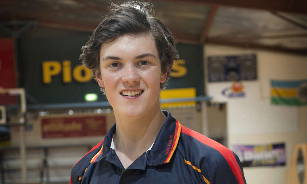 Basketball Mount Gambier's Mitchell Hunter, Commercial Club of Mount Gambier Exceptional Junior Awardee 2017.