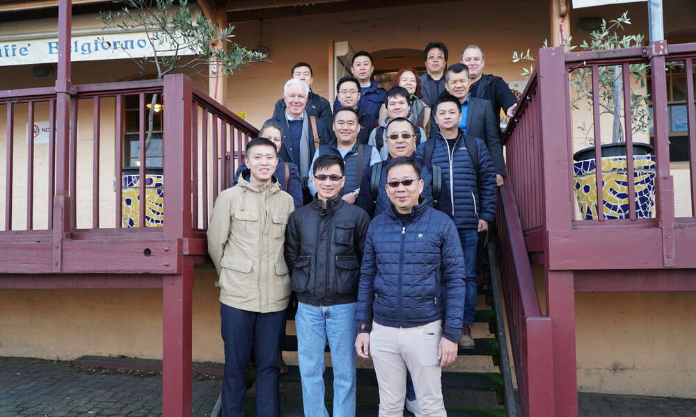 The delegation of Chinese and Malaysian investors began their whirlwind tour of the region at the Oatmill Complex this morning.