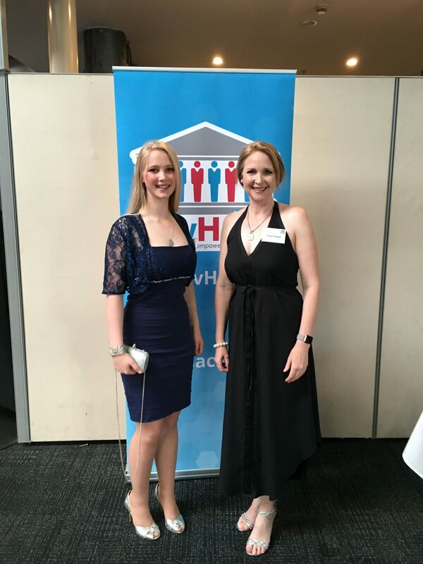 Lilli Fulwood and her mother Fiona at the National GovHack Awards in Sydney.