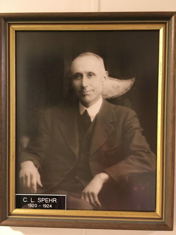 City of Mount Gambier Mayor 1920 - 1924 – C. L. Spehr.