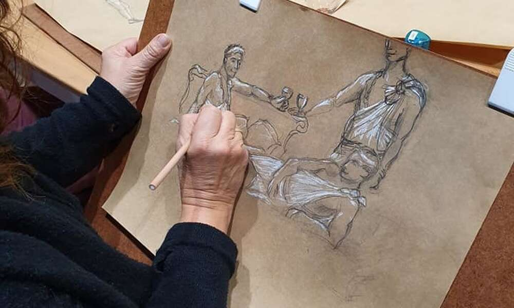The community is invited to try a hand at a toga life drawing session with local artists as part of the program.