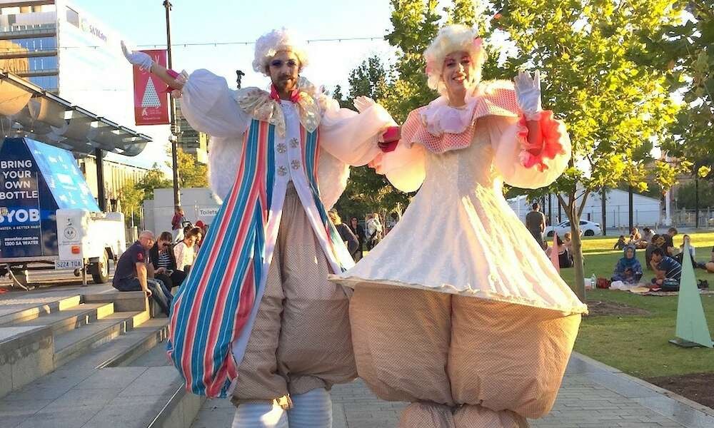 Roving performers from Adelaide based circus and street theatre company Slack Taxi will provide pre-parade entertainment in Commercial Street.