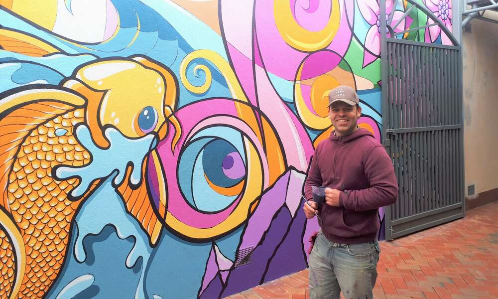 Justin Clarke putting the finishing touches on 'Shine in the South East'.