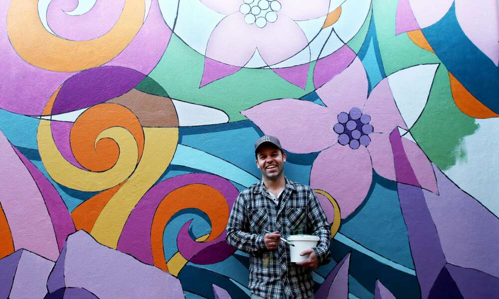 Applications are now open for local artists, not-for-profit organisations and community groups to support the delivery of vibrant, creative and contemporary projects. Justin Clarke was able to complete his concept 'Shine in the South East', a mural in Commerce Arcade, with the assistance of the 2019/2020 Creative Arts Fund. Photo credit: Kate Hill