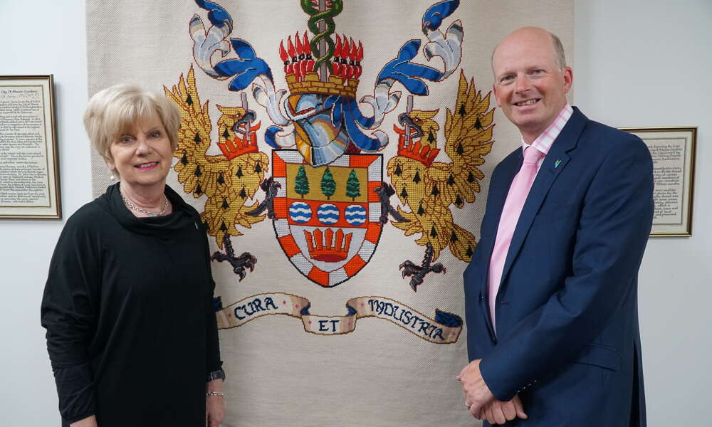 City of Mount Gambier Mayor Lynette Martin OAM and CEO Andrew Meddle.