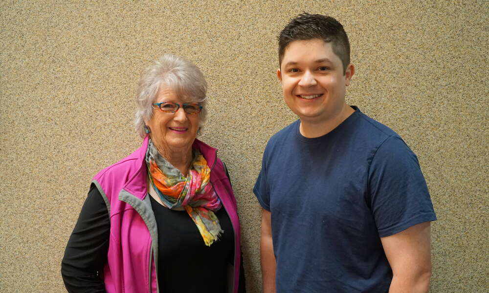 Junior Sports Assistance Fund committee member Jeanette Elliott and Presiding Member Councillor Christian Greco.
