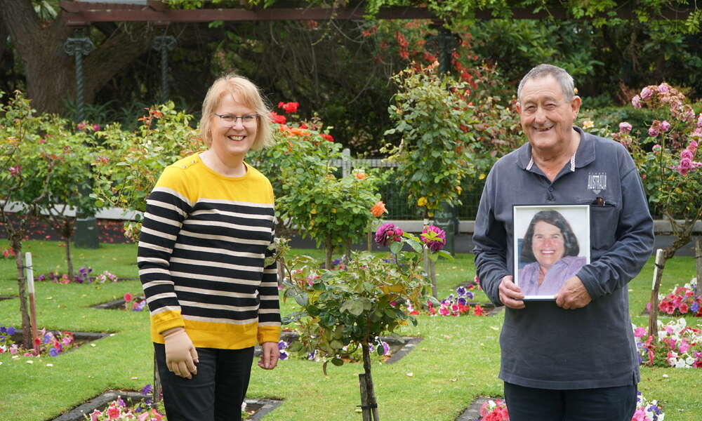 The Citizen of the Year Award will be jointly awarded to Dulcie Hoggan (left) and the late Pamela Moulden pictured inset and represented by her husband Ian Moulden on Australia Day.