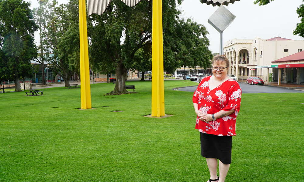 The Community Event of the Year Award will be presented to Recycled Runway on Australia Day. Committee member Leanne Dunn is pictured.