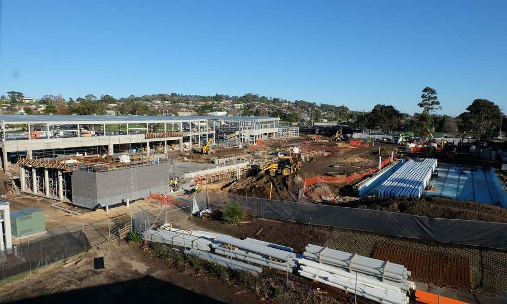 The Wulanda Recreation and Convention Centre is under construction at Olympic Park on Margaret Street, Mount Gambier.