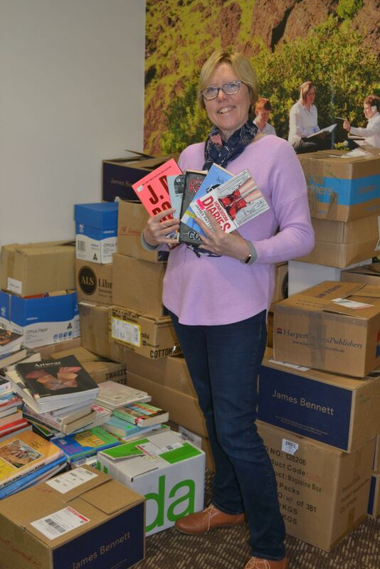 Friends of the Library President Chris Lloyd is busy preparing for the Big Book Sale scheduled for Sunday 29 August 2021.