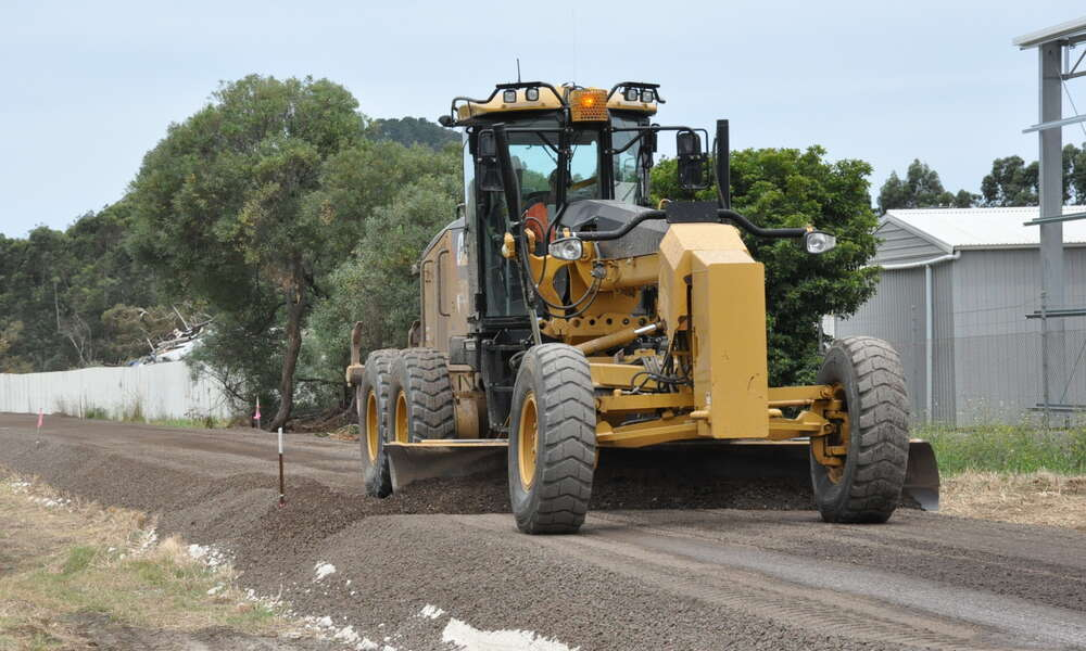 Construction is underway on the Rail Trail from east to west of the city limits.